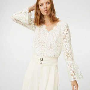 Club Monaco Jarne V-Neck Lace Blouse